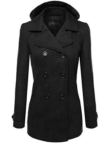 FPT Womens Classic Double Breasted Peacoat