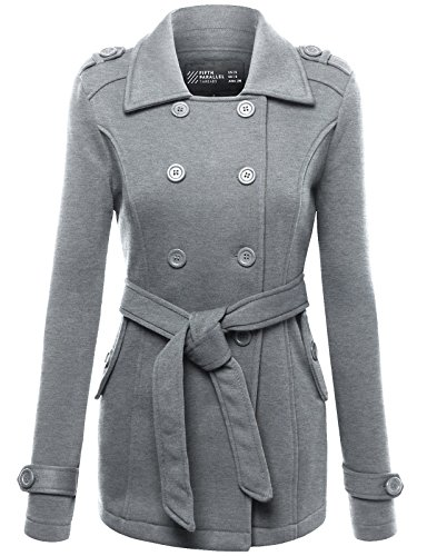 FPT Womens Double Breasted Peacoat With Waist Tie (S-3XL)