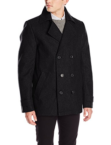 Calvin Klein Men's Double-Breasted Pea Coat