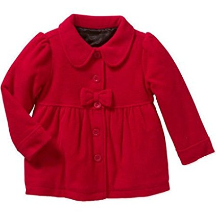 Healthtex Baby Toddler Girl Essential Peacoat Jacket (RED ROVER Solid)Size: 24M