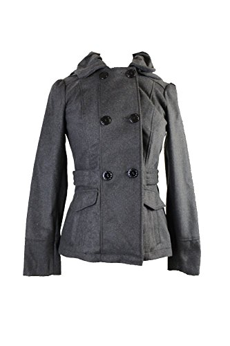 Celebrity Pink Women's Hooded Lightweight Pea Coat