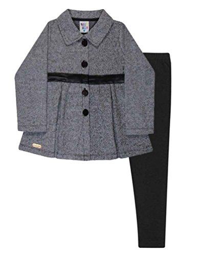 Toddler Girl Outfit Pea Coat and Leggings Winter Set Pulla Bulla 1-3 Years