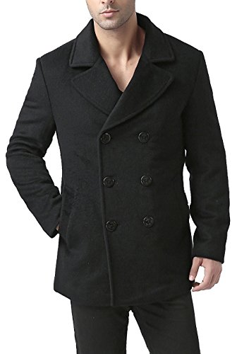 BGSD Men's 'Bradley' Cashmere Blend Pea Coat