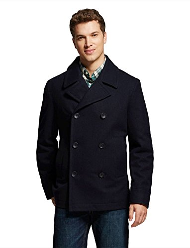 7Encounter Men's Wool Blend Pea Coat