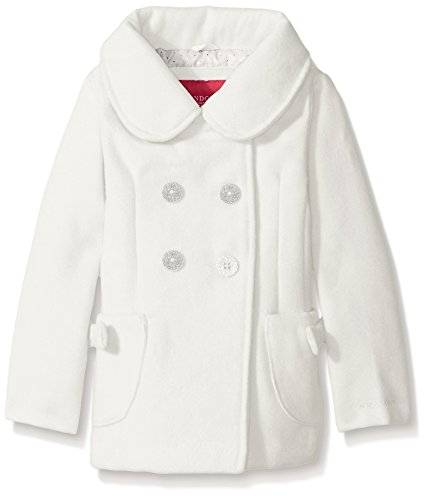 London Fog Little Girls' Faux Wool Peacoat with Bow Pocket