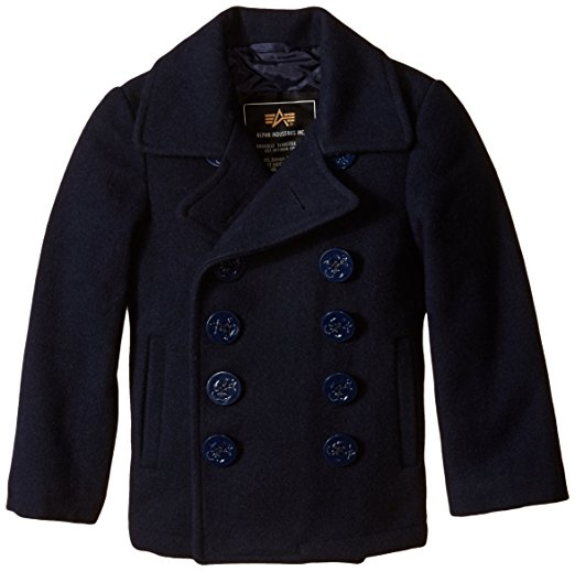 Alpha Industries Little Boys' Classic USN Pea Coat