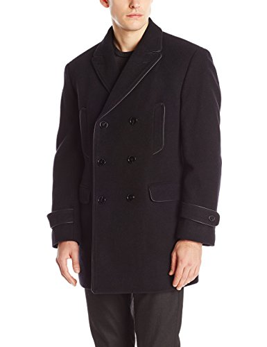Calvin Klein Men's Medwin Double-Breasted Peacoat