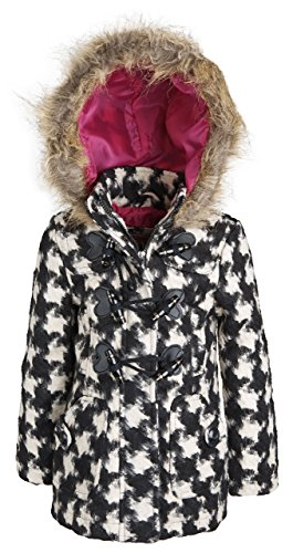 Urban Republic Little Girls Classic Wool Blend Hooded Winter Toggle Peacoat