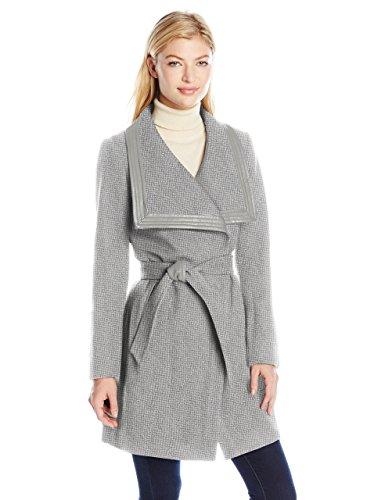 Jessica Simpson Women's Basketweave Wrap Coat