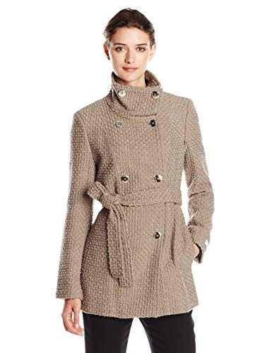 Calvin Klein Women's Plus-Size Wool-Blend Double-Breasted Coat