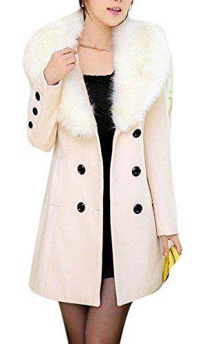 Youtobin Women's New Style Winter Dress-Coats Slim Long Woolen Pea Coat