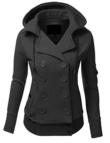 Ollie Arnes Women's Versatile Double-Breasted Wool-Blend Pea Coats
