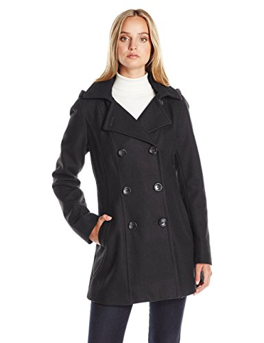 Nautica Women's 3/4 Hooded Peacoat