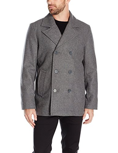 Tommy Hilfiger Men's Wool-Blend Melton Classic Peacoat