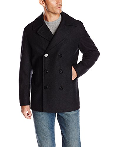 ARRIVE GUIDE Men's Leisure Sliod Thicken Long Pea Coat