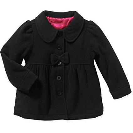 Healthtex Baby Toddler Girl Essential Peacoat Jacket (RED ROVER Solid)Size: 18M