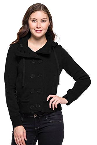 2LUV Women's Double Breasted Peacoat W/ Hood