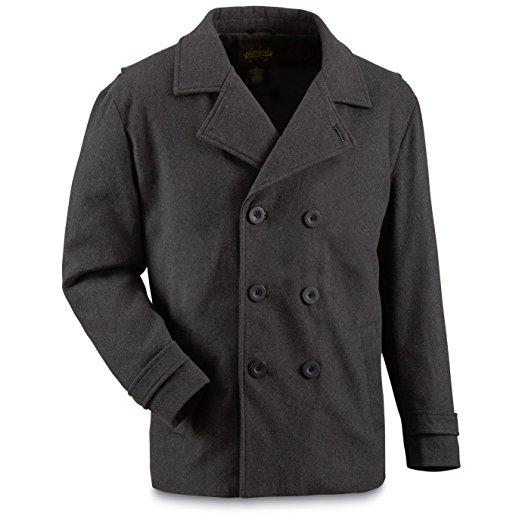 Guide Gear Men's Wool-Blend Pea Coat