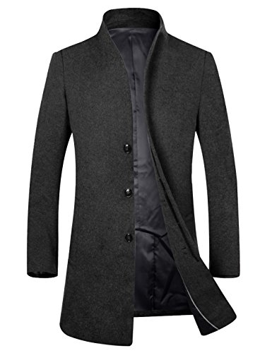 APTRO Men's Wool Coat Slim Fit Pea Coat