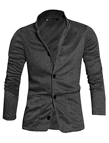 Allegra K Men Button-tab Epaulets Slim Fit Double Breasted Belted Worsted Coat
