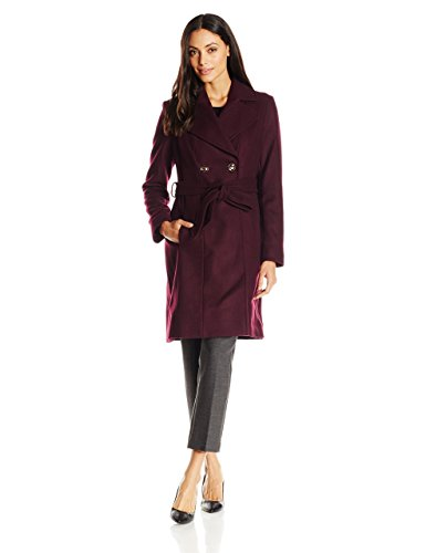 Via Spiga Women's Double-Breasted Wool Coat with Belt