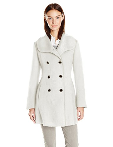 Jessica Simpson Women's Bell Sleeve Basketweave Wool Coat