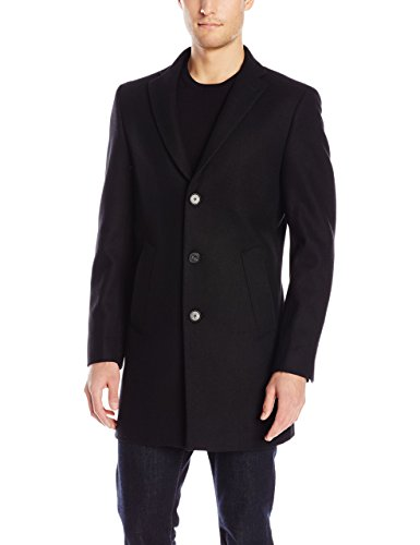 DKNY Men's Denn 34 Inch Overcoat