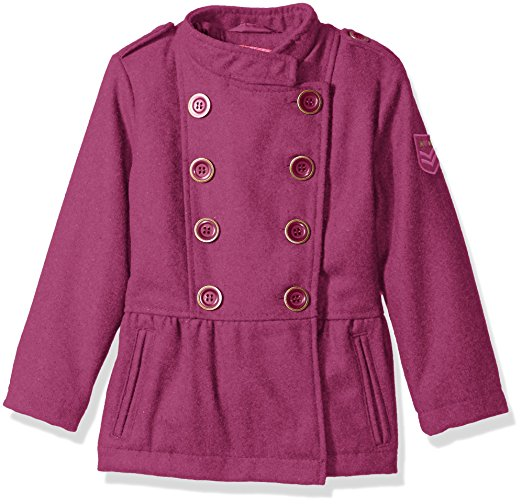 Pink Platinum Girls' Military Wool Coat