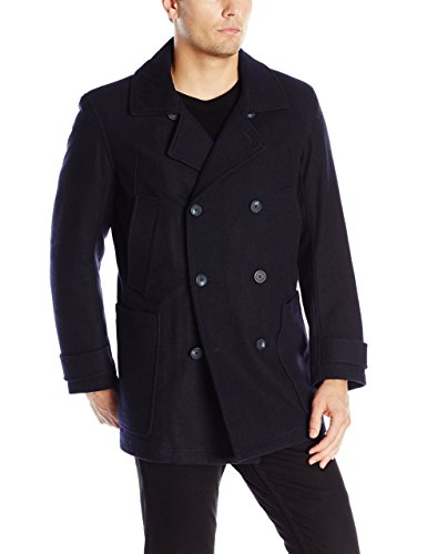 Marc New York by Andrew Marc Men's Mulberry Wool Peacoat with Removable Bib