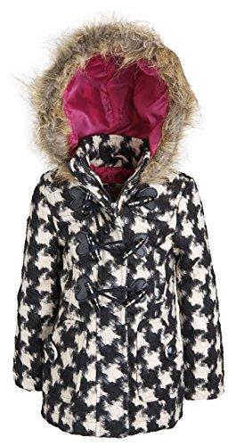 Urban Republic Little Girls Classic Wool Blend Hooded Winter Toggle Peacoat