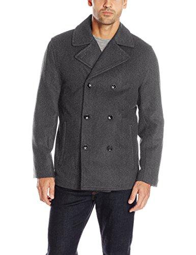 London Fog Men's Austin Double Breasted Wool Pea Coat