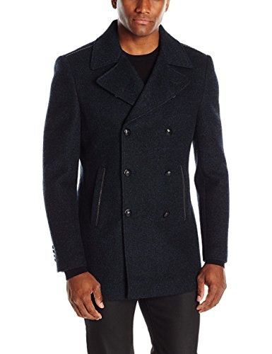 John Varvatos Men's Double Breasted Peacoat