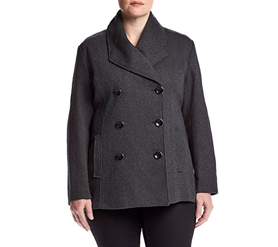 Rampage Plus SIze Carrie Peacoat