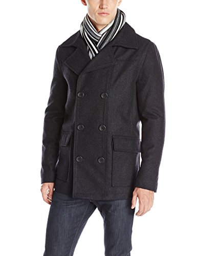 Buffalo by David Bitton Men's Peacoat with Scarf