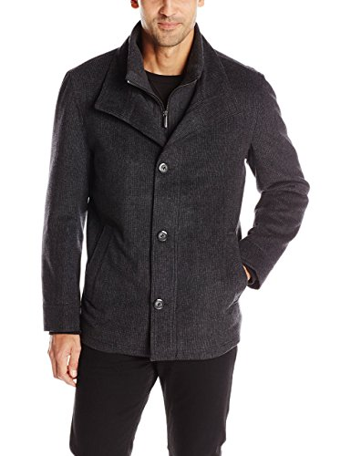 London Fog Men's Ashland Wool Coat with Inner Bib